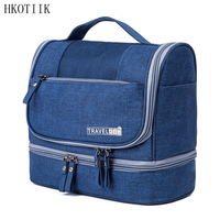 HKOTIIK High Quality Waterproof Travel Organizer Cosmetic Bag Travel Portable Men Lady Wash Bags Bathroom Storage