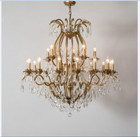 Free Shipping Golden/Black Vintage Crystal Chandelier Loft Pendant Lamp Suspension Luminaire For Dining Room Home Decora Lights