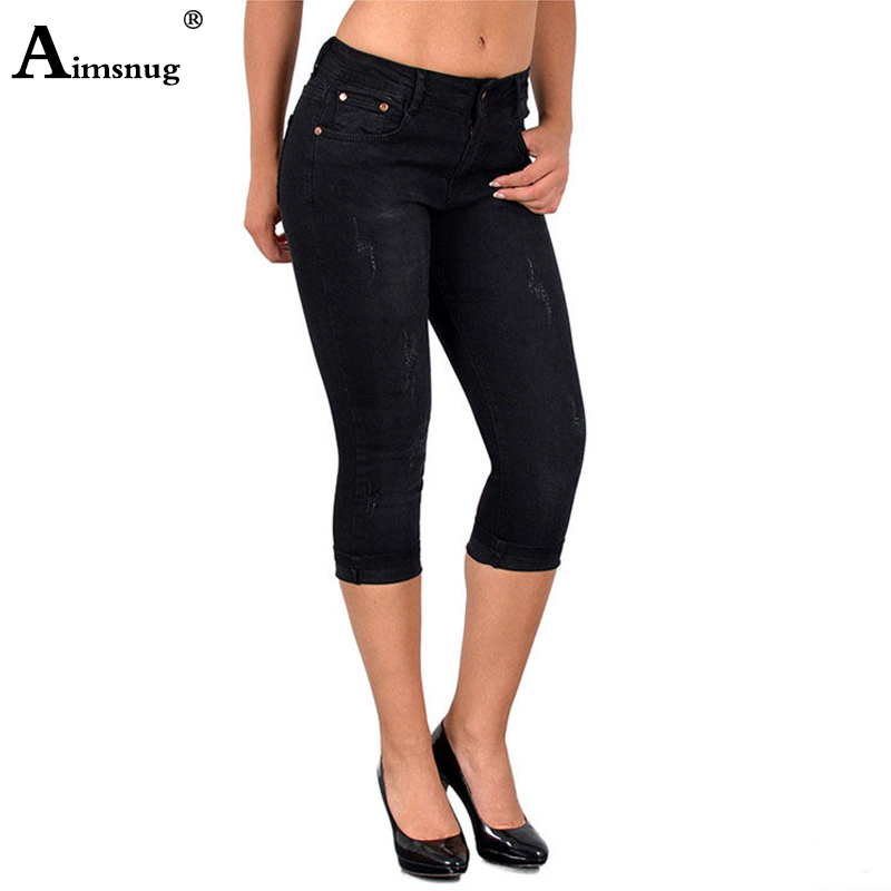 Plus Size S-5xl Denim Skinny Jeans For Women Stretch Vintage Cuffs Ripped Jeans 2019 New Female Elastic Calf Length Pants Jeans