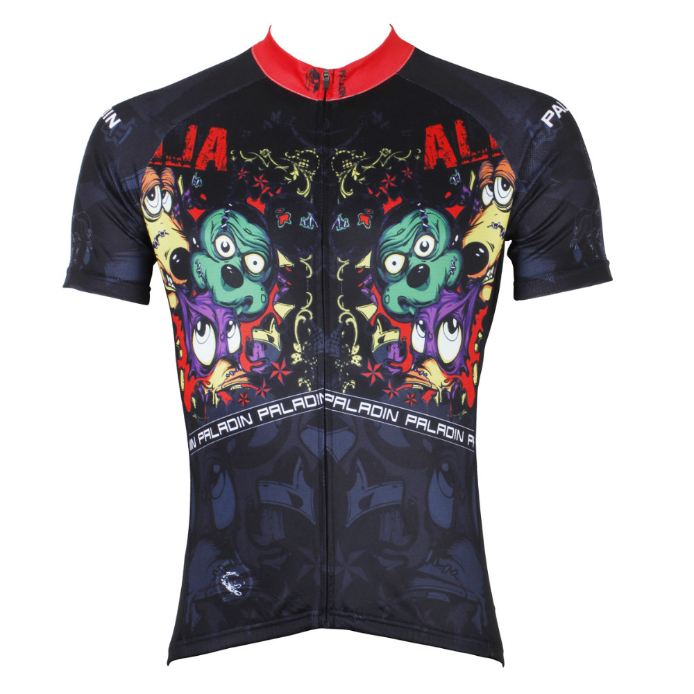 CYCLING JERSEYS Horror Zombie Dogs Men top Sleeve Cycling Jersey hot Breathable Bicycle Clothes Black Cycling Clothing ILPALADIN 2016 new men s cycling jerseys top sleeve blue and white waves bicycle shirt white bike top breathable cycling top ilpaladin