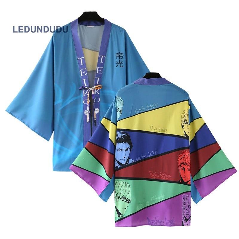 kuroko no Basket TEIKO Chiffon Pajamas Cloaks Akashi Seijuro Cosplay Costume Kuroko Tetsuya Yukata Kimono Coat Bathrobes Shirts