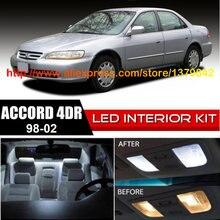 Free Shipping 12Pcs/Lot 12v Xenon White/Blue Package Kit LED Interior Lights For 98-02 Honda Accord 4dr цена