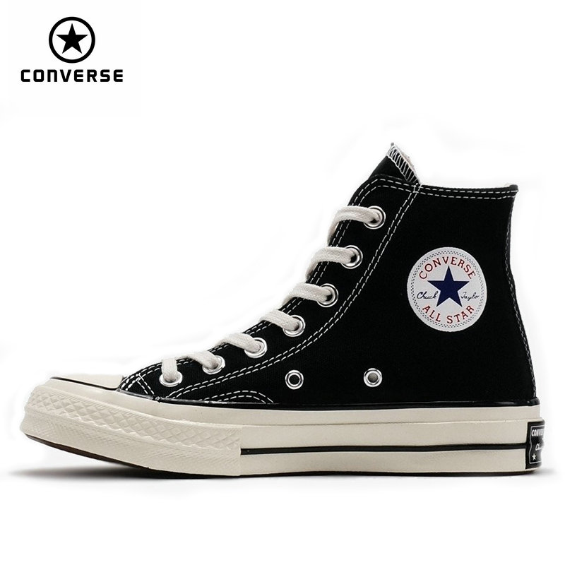 1970s Original Converse all star shoes men and women's sneakers canvas shoes high classic Skateboarding Shoes classic original converse all star men and women sneakers canvas shoes all black and beige low skateboarding shoes