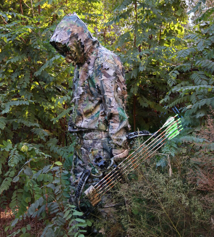 All Seasons 3D Camouflage Clothing Sniper Ghillie Suit Contain Jacket and Pants for Bow Hunt Camping Free Shipping