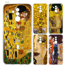 Mencium dengan Gustav Klimt Fashion Lembut Case untuk Huawei P30 P20 Mate 20 10 Pro P10 P9 P8 Lite Mini 2017 P Smart Plus 2019 Cover(China)