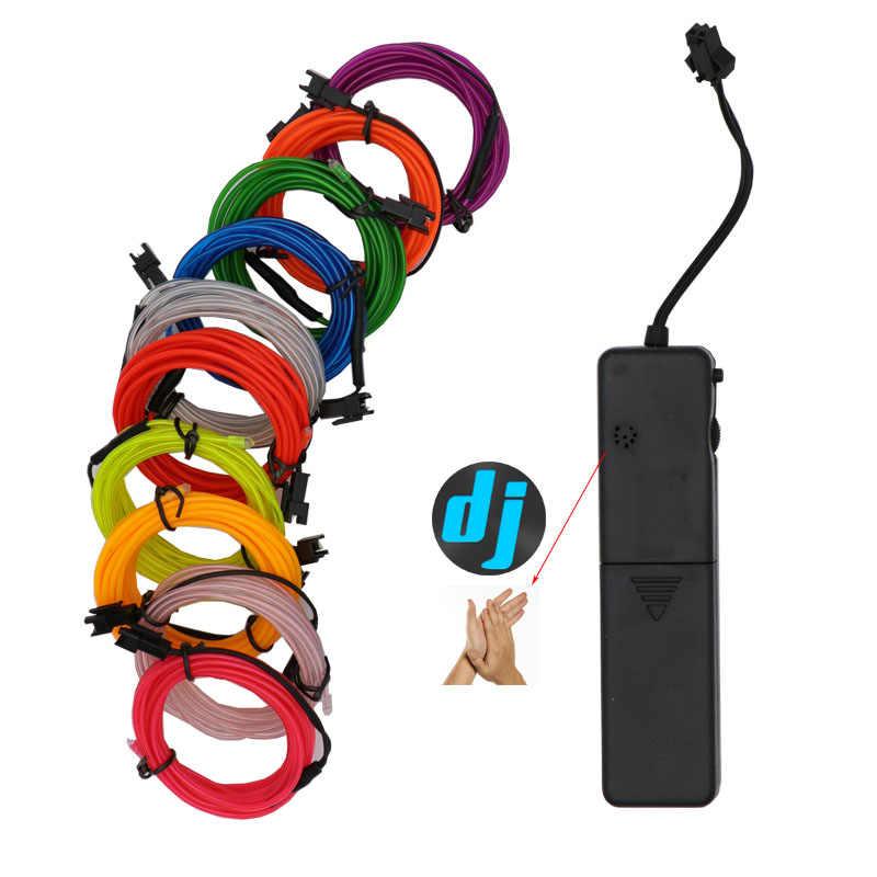 2.3MM Neon Light Dance Party Decor car Lights Neon LED lamp Flexible EL Wire Rope Tube LED Strip Light With 3V/5V/12V Inverter