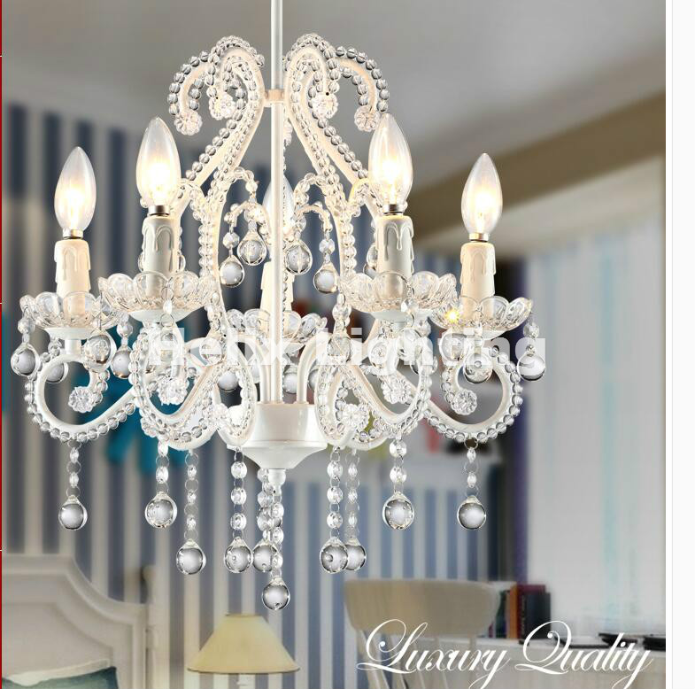 Art deco Pink Chandelier Mixed Color White Color E14 LED Living Room Candle Lamps luxury Acrylic Crystal Lighting Free Shipping free shipping white blue chandelier living room candle lamps luxury acrylic crystal chandelier lights ac 100% guaranteed
