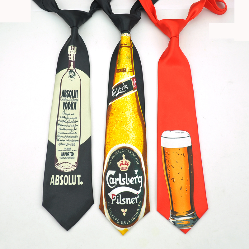Name Brand Fashion 5 Design Beer Mug Beer Glass Cup 10 Cm Novelty Funny Ties For Men Fashion Corbata Men's Party Causal Necktie