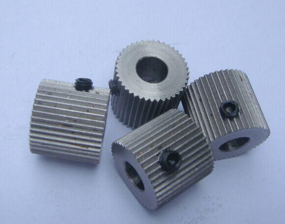 10pcs/lot 3D Printer Gear 40 Tooth For 1.75mm Makerbot Reprap 3d Printer Kit Extrusion Head Gear Feeding Wheel Extruder Gear