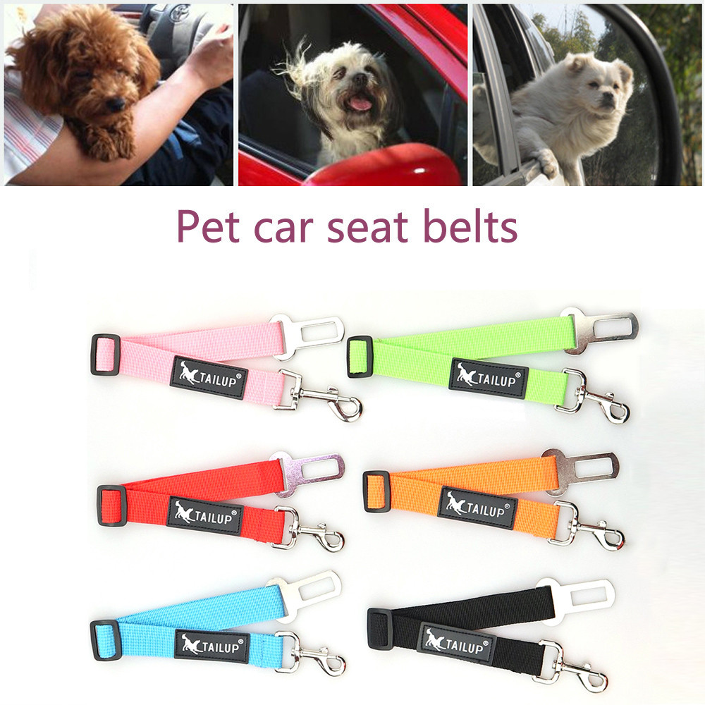 Pet Cat Dog Seat Belt Car Safety 2018 Newly Adjustable Restraint Lead Travel Leash Belts For Small Large Dogs S~XL Dropship F531