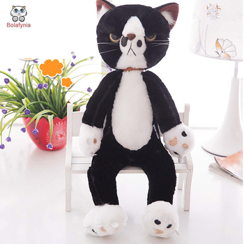 BOLAFYNIA Children Plush Stuffed Toy Japan unhappy cat pillow Baby Kids Toy for Christmas Birthday gift