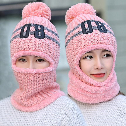 2017 New fashion Latest Hot Selling multi functional knit hat Balaclava mask winter wool Hats adult women beanies thick mask