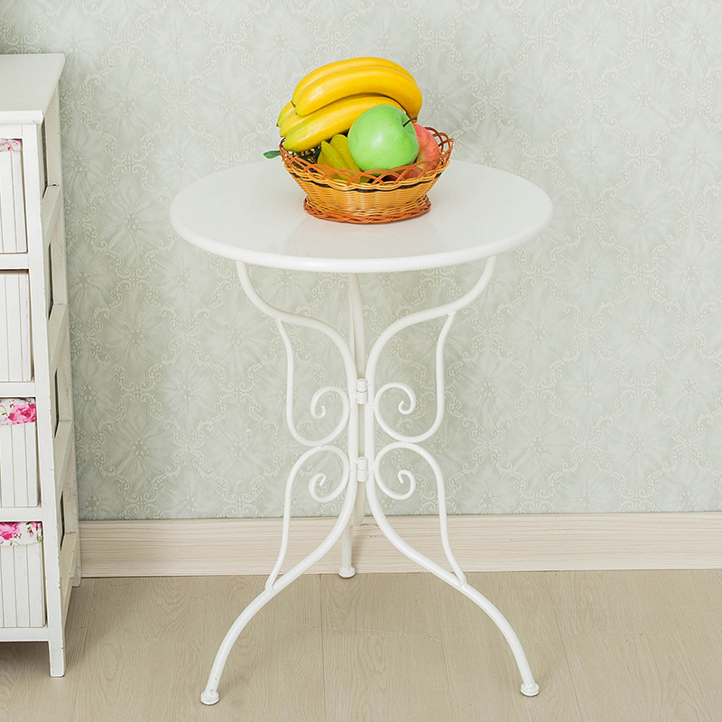 Metal Tea Table Simple Modern Iron Round Coffee Table Creative Tea Table for Apartment