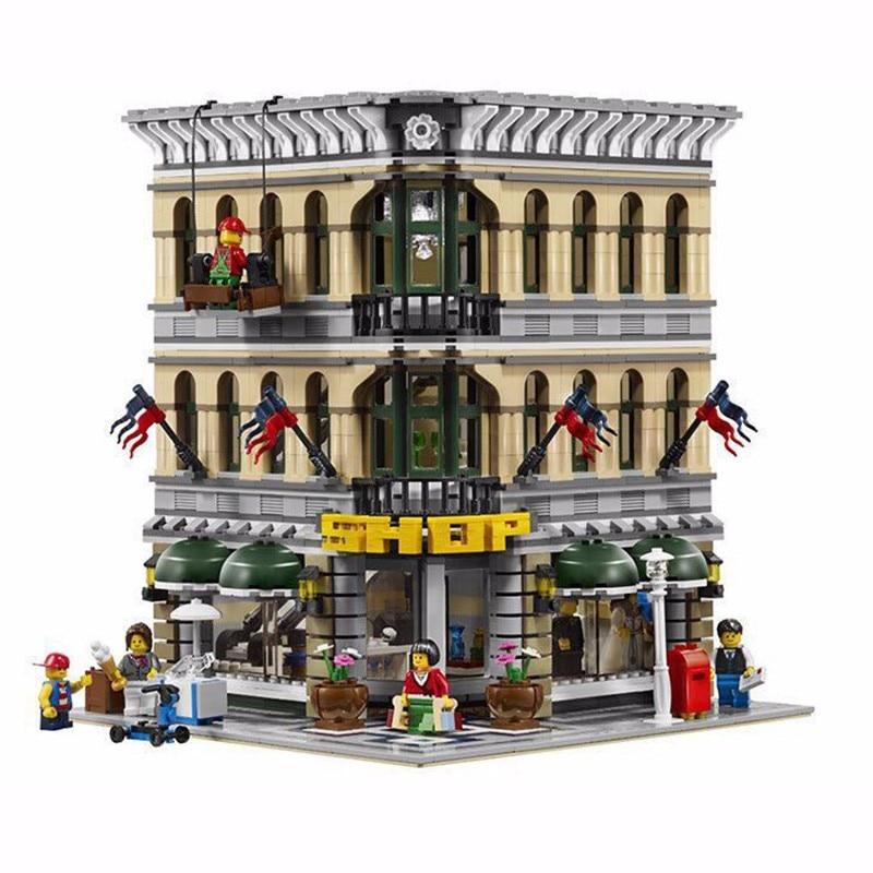 ФОТО LEPIN 2182pcs City Creator Grand Emporium Model Building Blocks Kits Brick Toy #15005 compatiable with 10211