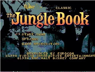 The Jungle Book - 16 bit MD Games Cartridge For Sega MegaDrive Genesis console