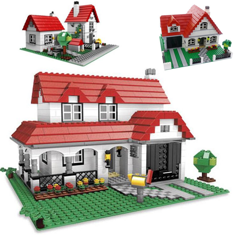 Lepin 24027 Creative Series Castle the American Style House Villa Building Blocks 761pcs Bricks Toys a toy a dream lepin 24027 city series 3 in 1 building series american style house villa building blocks 4956 brick toys