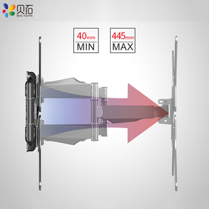 Image 3 - BEISHI 6 Arms TV duvar montaj aparatı tam hareket Tilt TV braketi 32  65 için takım elbise TV ekranı yüklemek 40kg VESA 400x400mm