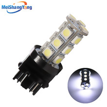 3156 3157 Pure White 18 SMD 5050 Stop Tail Brake Turn  T25 P27 12V 18 LED Car Light Bulb Lamp parking Car Light Source цена
