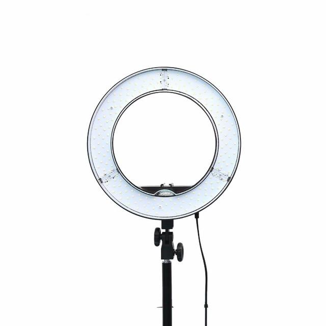 Es180 180 Led 13 Stepless Adjustable Ring Light Camera Photovideo