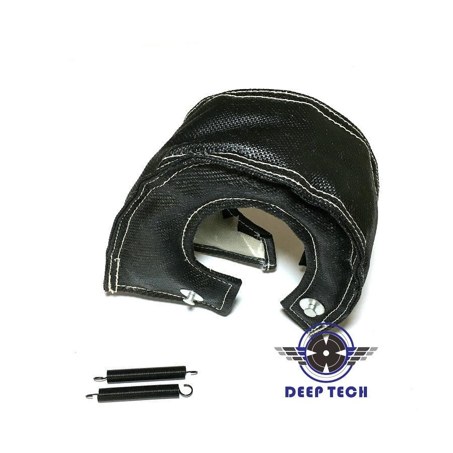 Image 3 - T3 Black Colour Glass Fiber Turbo Blanket Jacket Heat Shield Cover Turbocharger Jacket For T25 T3 Turbo