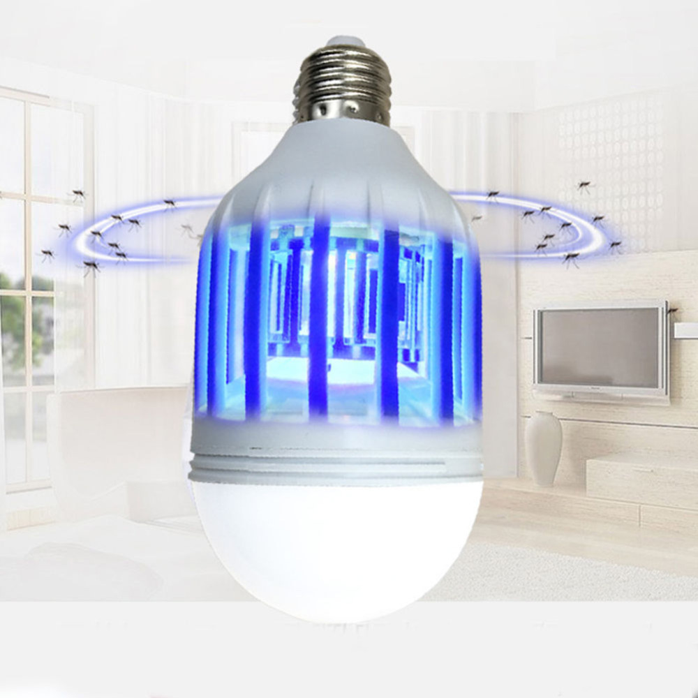 Free Shipping !!! LED Bulb E27 15W Anti-Mosquito Insect Zapper Flying Moths Killer Light lamp butterflies and moths