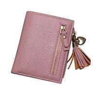 Brand New 2017 Fashion Women Wallet Tassel Short Wallets Large Capacity Zipper Hasp Ladies Bag Purse