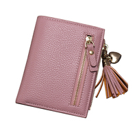 Brand New 2017 Fashion Women Wallet Tassel Short Wallets Large Capacity Zipper Hasp Ladies Bag Purse