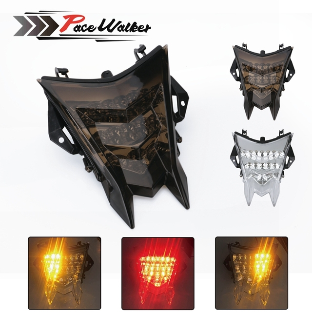 Motorcycle Accessories LED Break Stop Tail Light Plastic Smoke Len Turn Signal Light Rear Lamp Support For BMW S1000RR 2010-2015