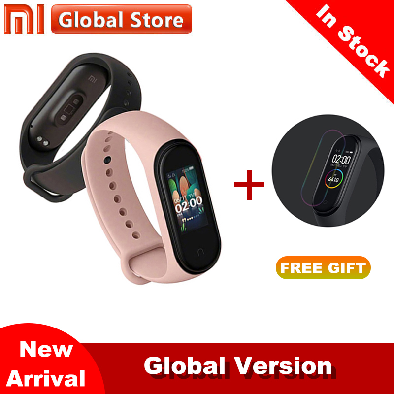 Xiaomi Mi Band 4 2019 Newest miband 4 Mp3 Music fuction color screen Fitness Heart Rate Time Bluetooth 5.0 Smartwatch(China)