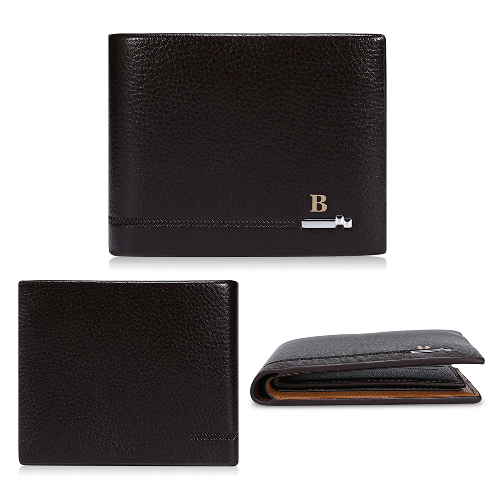 Baellerry New Vintage Men Leather Purse Short Bifold Wallet Men Cash Pockets Standard Wallets Card Holder Casual Money Bag baellerry small mens wallets vintage dull polish short dollar price male cards purse mini leather men wallet carteira masculina