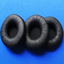 Linhuipad 10 pack 55mm Leather Ear Cushion Pads 5.5cm headset ear foam for Rapoo H1000 PMX60 PC21 PC230 Sony MDR-G62