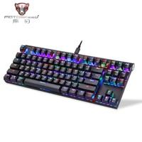 Motospeed CK101 Mechanical Gaming Keyboard Backlight Gaming Keyboard 87 keys Blue/Red Switch for Tablet Desktop