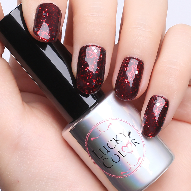 Diamond Red UV Gel Polish voor Nail Art Professional LED Soak Off Gel Vernislak Hoge kwaliteit Gratis verzending 10ml fles