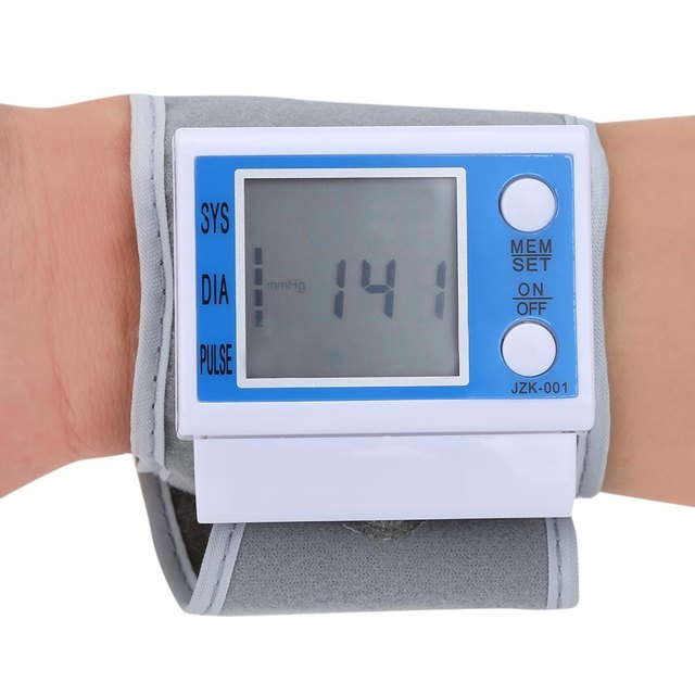 Lightweight Health Care Portable Automatic Digital Quickly and Quietly Measures Wrist Blood Pressure Monitor Automatic Exhaust