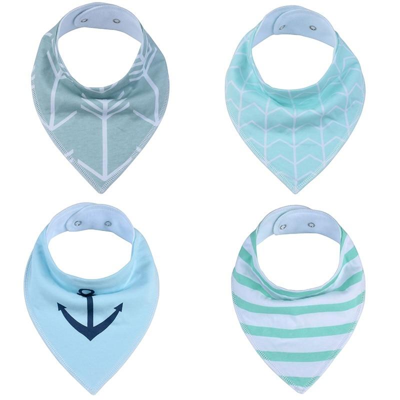 1Pcs Solid Color Baby Bibs Boys Accessories Newborn Girls Burp Bandana Cotton Soft Toddler Triangle Scarf Infant Saliva Towel color block geometric bandana scarf