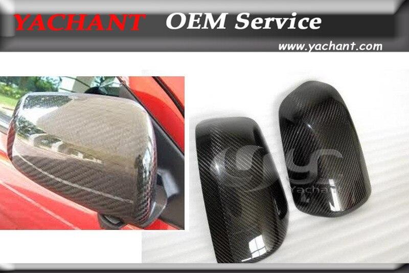 Voiture-Style Couverture de Miroir de Fiber De Carbone Casquettes 2 pièces Ajustement Pour 2008-2012 Mitsubishi Lancer Evolution EVO10 EVO X Couverture de Miroir