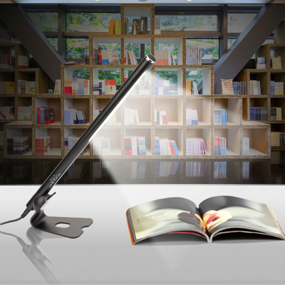 Купить с кэшбэком LED Desk Lamp Fixed Convenient Table Folding Portable Office Laptop Fixture 5W Light