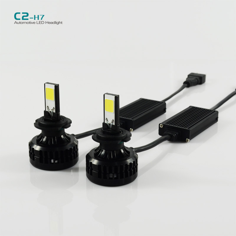 1set C2 H7 72W LED auto Headlight 6600LM led head light Lamp 6000k led car headlight
