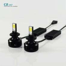 1 компл. C2 H7 72 Вт из светодиодов авто фар 6600LM из светодиодов головной свет лампы 6000 К из светодиодов фары автомобиля лампа DC9-16V