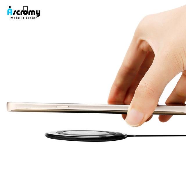 Imperméable à leau Rapide Qi Sans Fil Chargeur De Charge Pour iPhone 11 Pro 8 Plus X XS Samsung Galaxy S9 Plus S8 10W Chargeur À Induction