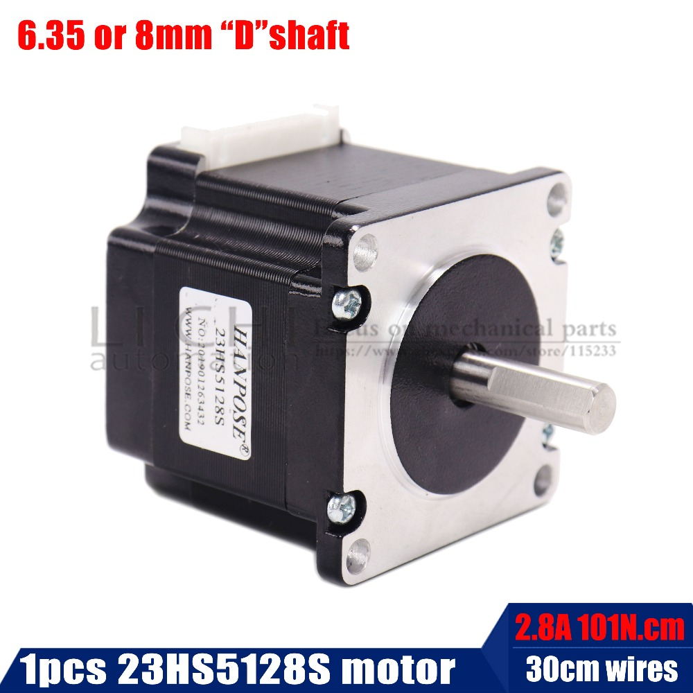 stepper motor NEMA 23 51mm (2.8A, 4-wire 101N.cm) 23HS5128 NEMA23 black motor for robot and CNC Laser Grind Foam Plasma Cutstepper motor NEMA 23 51mm (2.8A, 4-wire 101N.cm) 23HS5128 NEMA23 black motor for robot and CNC Laser Grind Foam Plasma Cut