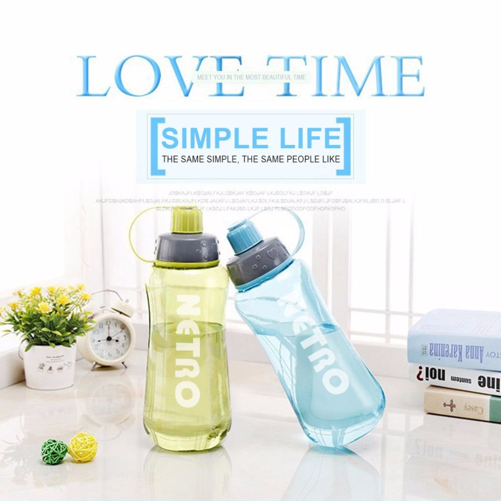 1000ML Portable Sports Water Bottle Plastic Outdoor Cycling Hiking Camping Drink Tea Juice Non-toxic With Filter Tip