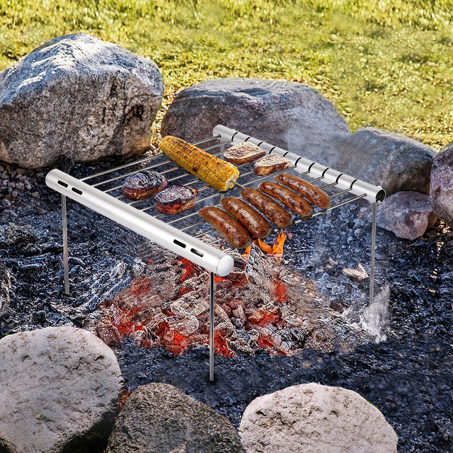 Multifunctional Portable Universal Barbeque Camping Grill