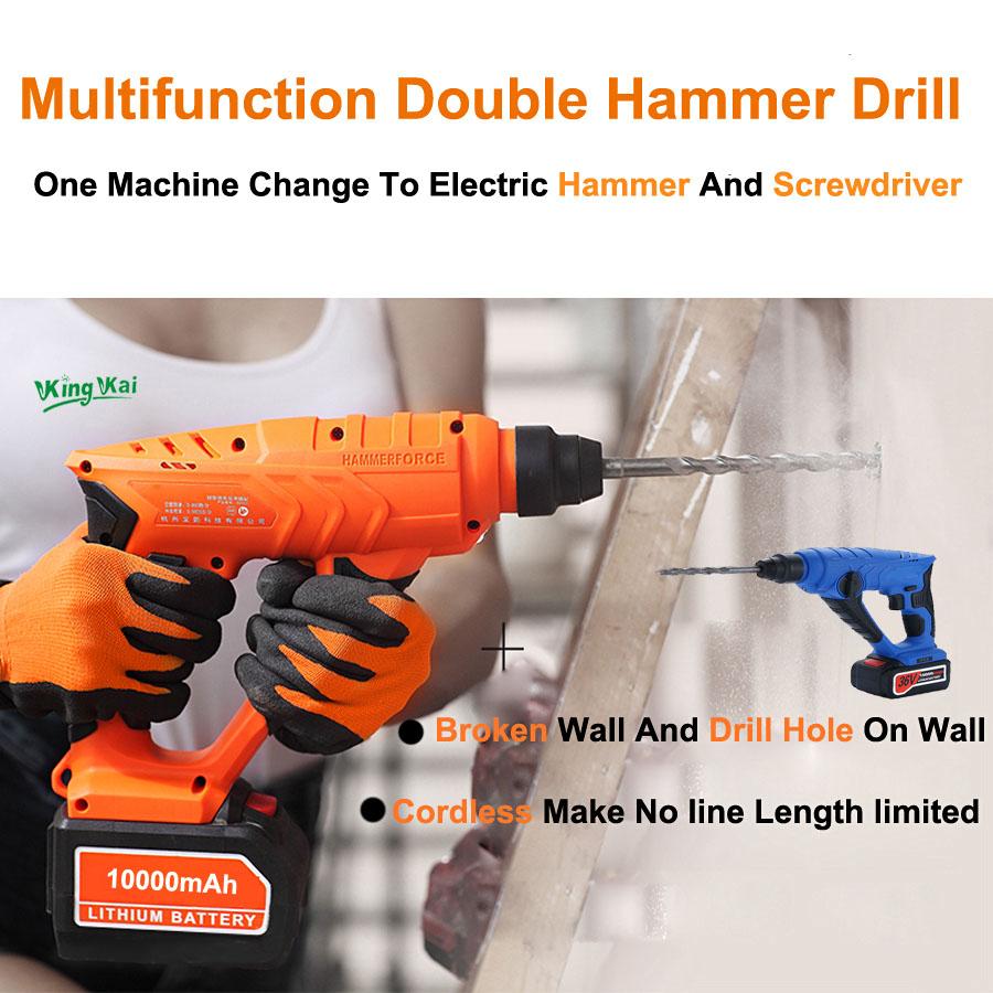HTB1p. ISpXXXXXpaFXXq6xXFXXXA - 828 5000 10000mAh Long Duration Hammer Cordless Drill Rechargeable Lithium Battery Multifunctional Electric Hammer Impact Drill