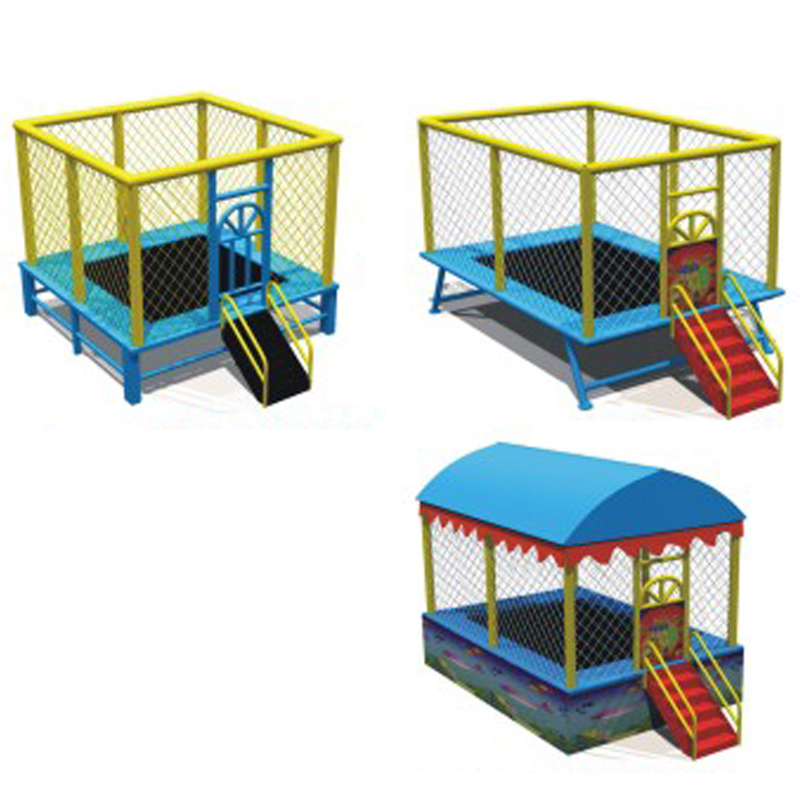 kids trampoline bed,kindergarten amusement jumping trampoline,children jumping bed