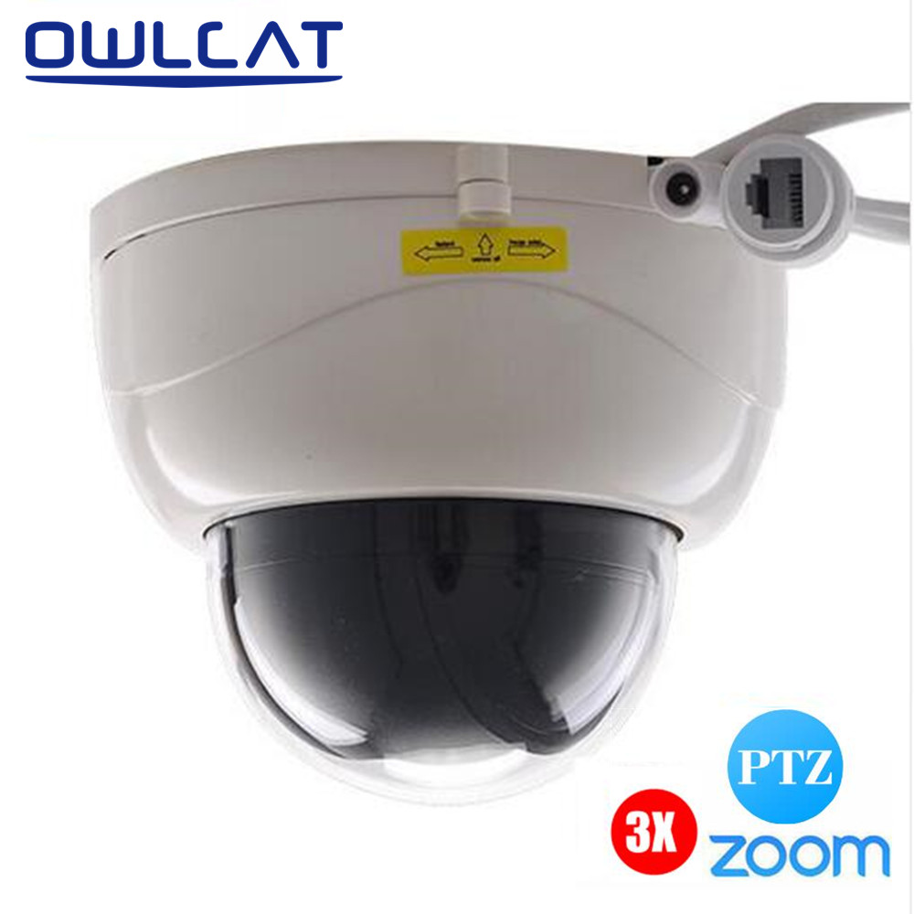 OwlCat 1080P Full HD 2MP Surveillance Network Indoor Dome CCTV Camera ONVIF Security IP Camera 3X Zoomed Auto Focus lens 2.8-8mm owlcat indoor bullet cctv camera guard wall mount plastic housing shield with bracket for video surveillance security cameras