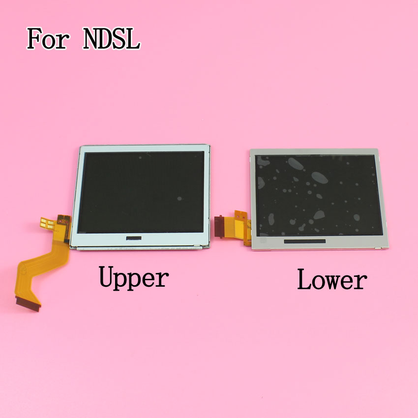 Top Upper / Bottom Lower LCD Display Screen Replacement for Nintendo DS Lite For DSL For NDSL DSLite