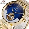 FORSINING Luxo Clássico Vestido de Mecânico Automático do Relógio De Pulso Dos Homens Rodada Luminosa Menino Elegante Dom Relógio masculino relogio
