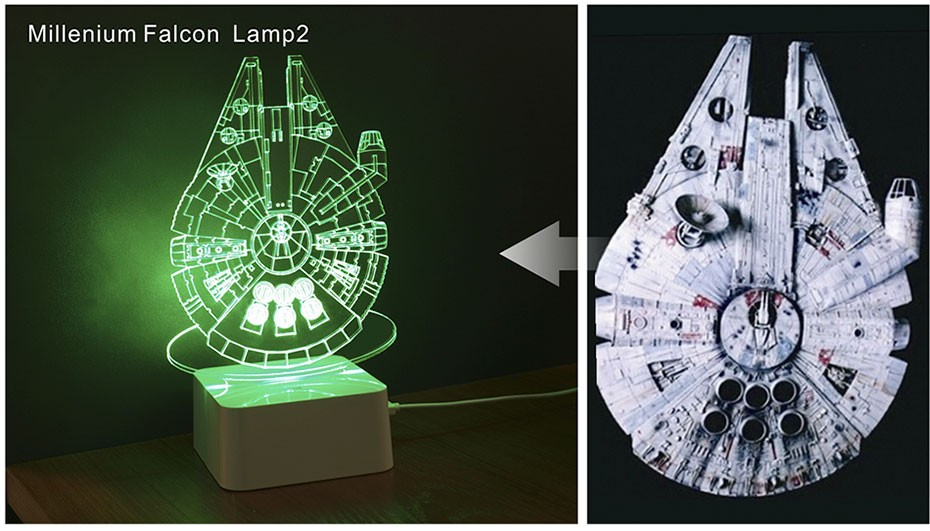 Star was Series Led 3D Night Light 5 light colors available  (6)