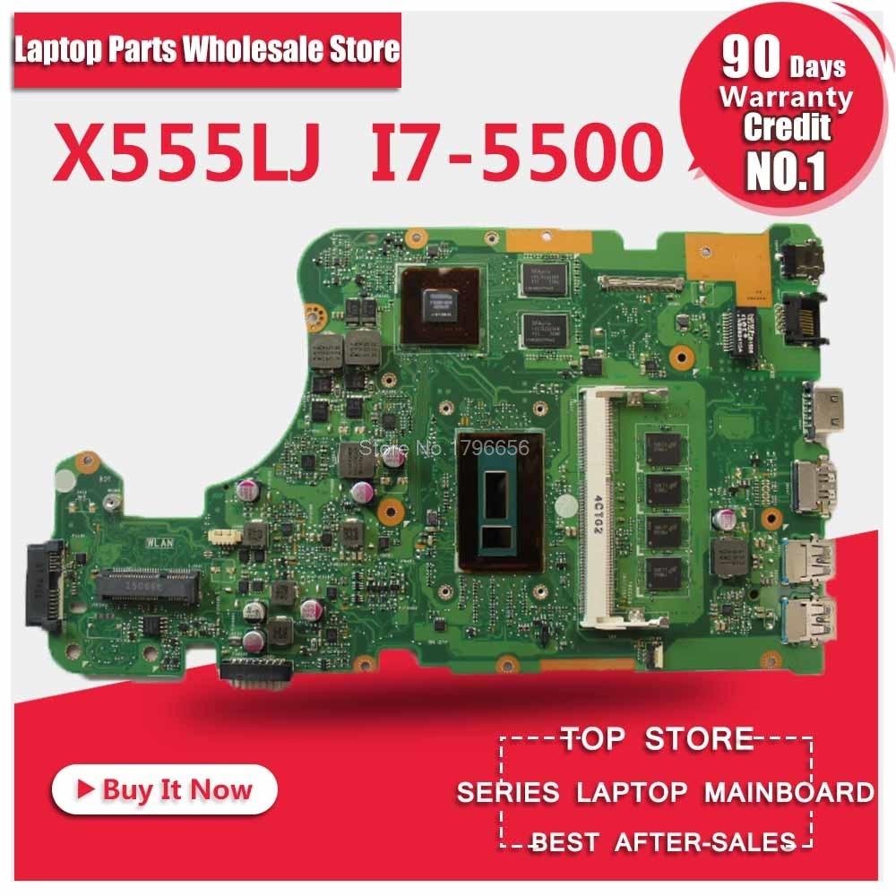 NOUVEAU!!! x555LD REV: 3.3/3.6 i7-5500/4 gb POUR ASUS X555L X555LDB X555LJ X555LP X555LF W519L ordinateur portable CARTE PRINCIPALE carte mère 100% testé
